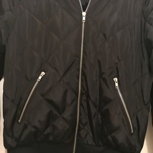 Jackets & Coats - Vintage Black Quilted Bomber